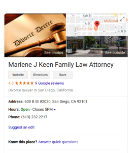 San Diego Divorce Attorney Marlene J Keen